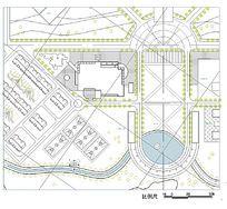 学校建筑规划CAD平面图 dwg