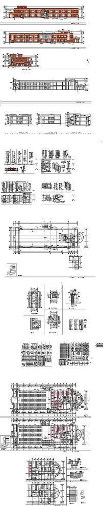 学校食堂CAD建筑设计 dwg