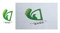 绿色简洁东伊食品logo