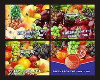 欧美风格进口水果海报设计