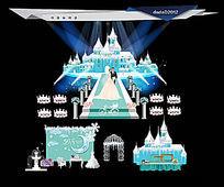 冰雪城堡主题婚礼
