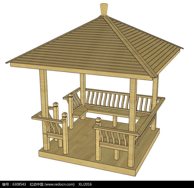 手工亭子模型制作步骤