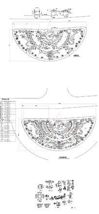 公园广场园林绿化平面图 dwg
