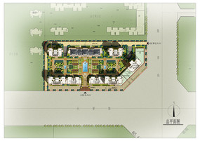 规则式住宅景观绿化设计PSD
