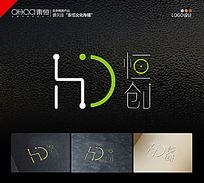 简约清新网络公司IT业logo设计