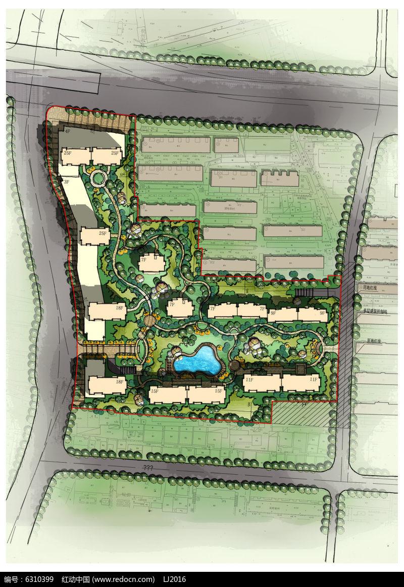 居住区景观设计PSD图片