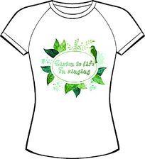 绿色清新字母印花服装设计