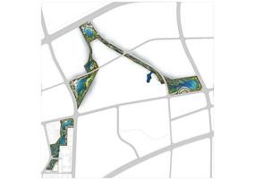 某某湿地公园彩色平面图PSD分层素材
