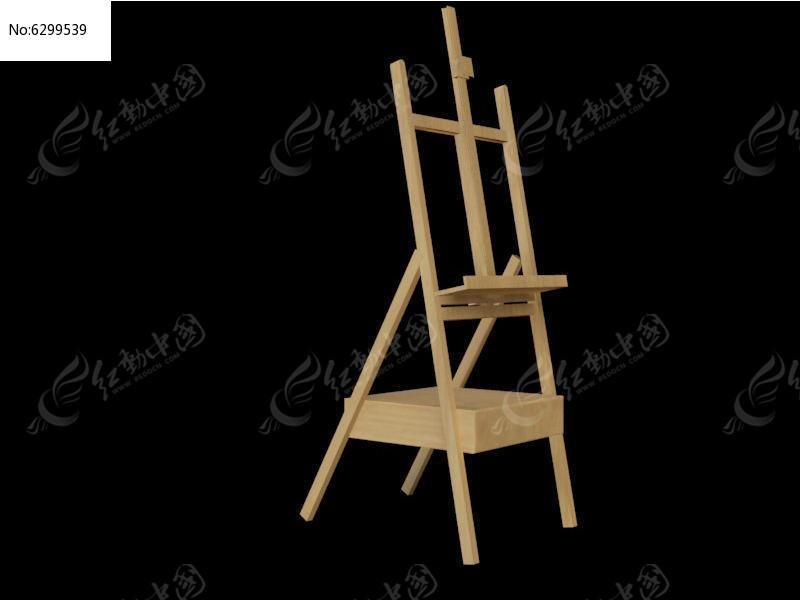 木质画架3ds素材下载_室内装修设计图片
