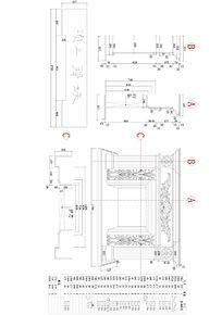 石材壁炉 CAD