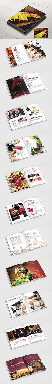 时尚个性红酒画册版式