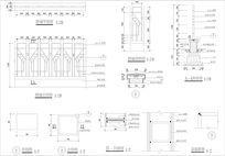 铁艺花纹围墙平立施工图CAD