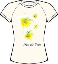 小黄花时尚印花设计