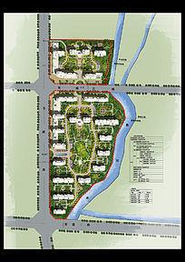 小区创意景观设计彩平图PSD