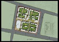 住宅小区经典景观设计PSD彩色平面素材 PSD