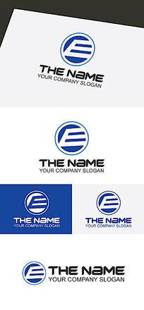 E电子商务元素LOGO标志