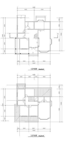 别墅家居屋顶平面图