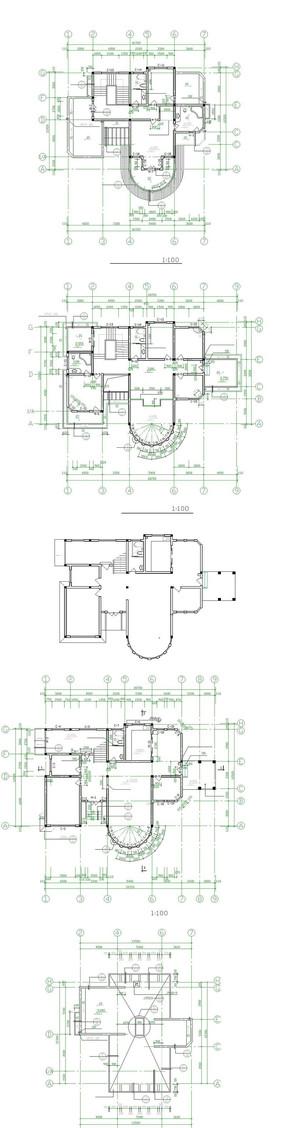别墅建筑家居平面图