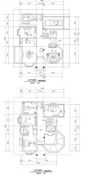 豪宅户型设计平面图