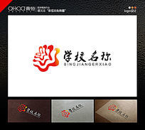 花型学校教育业logo设计