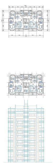 楼房建筑平面图