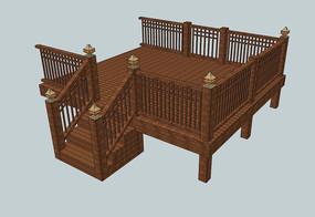 木质平台围栏