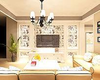 欧式风格客厅装修3D模型