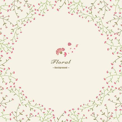 邀请函手绘花卉背景