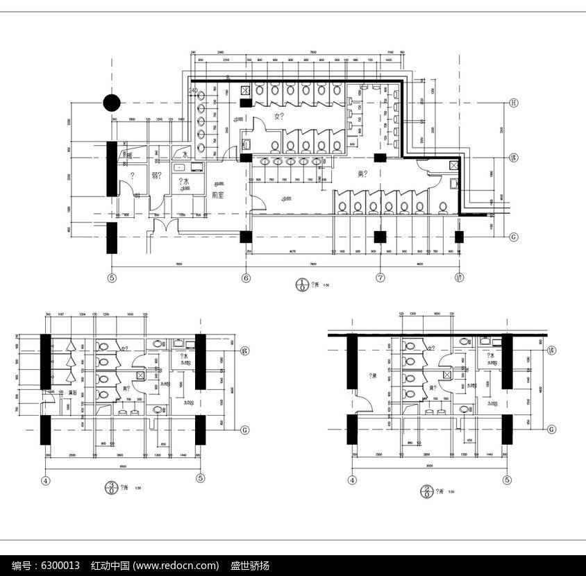 厕所建筑设计手绘