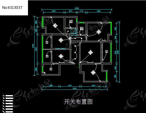 室内装修回路开关接线图