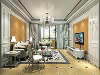 欧式复式楼客厅