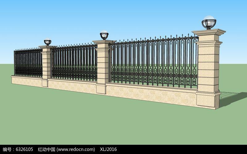 欧式铁艺栏杆围墙图片图片
