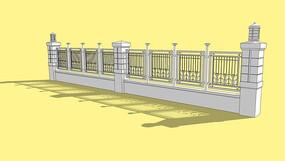 现代钢制围墙