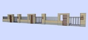 现代简约护栏围墙