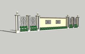 现代铸铁护栏围墙