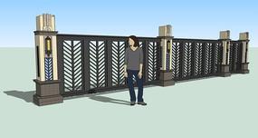 新中式金属围墙