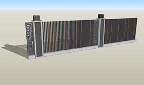 新中式直线简约围墙