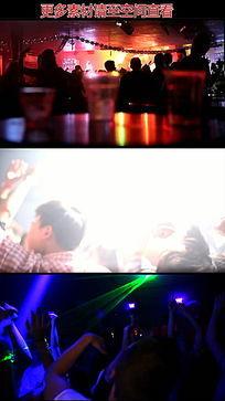 迪吧俱乐部狂欢的人群高清实拍视频素材