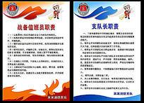 消防人员职责挂图值班室挂图值班室悬挂消防制度