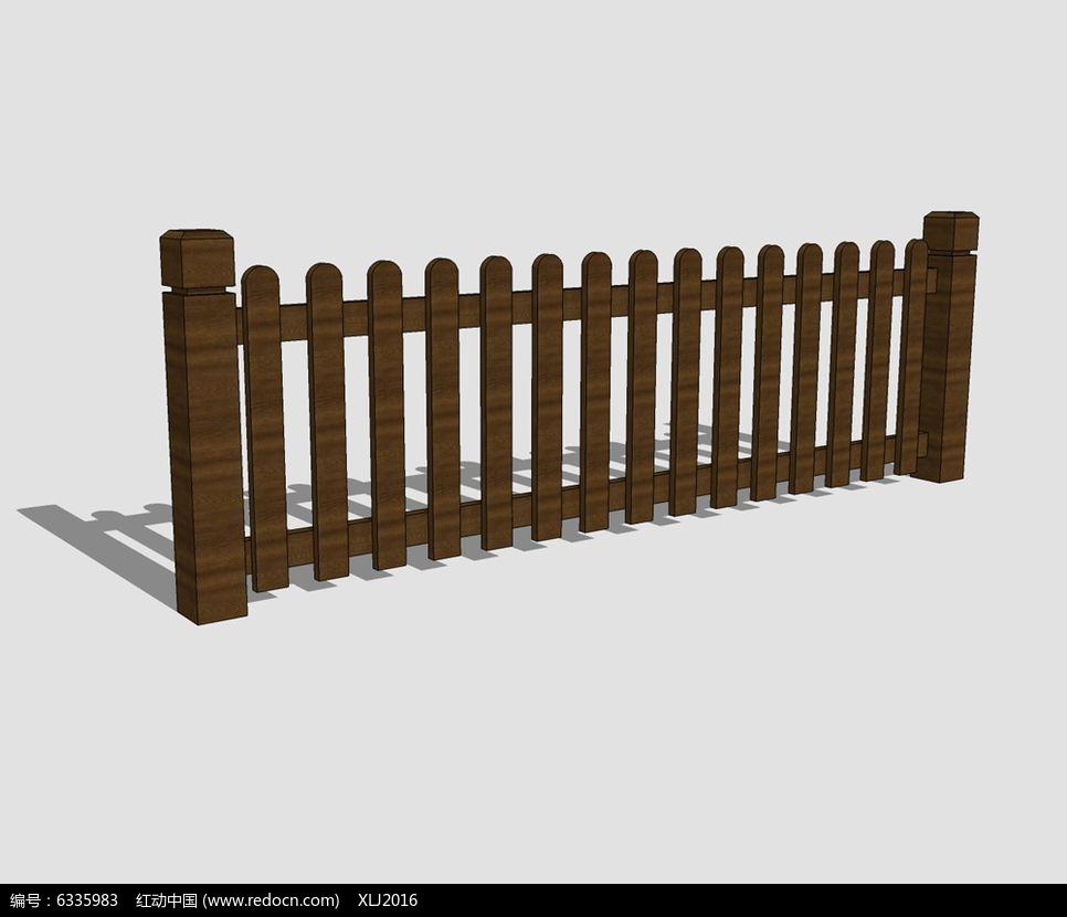 防腐木栏杆素材下载_围墙|栏杆|大门设计图片