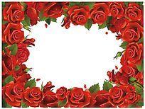 玫瑰花盘子图案设计