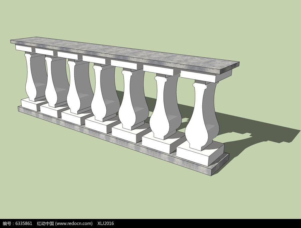 欧式大理石护栏素材下载