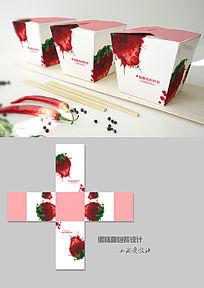 草莓味蛋糕方形包装盒