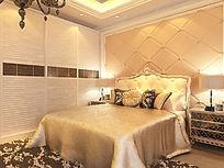 高端欧式卧室装修模型素材