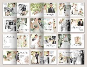 婚纱照相册模板 PSD