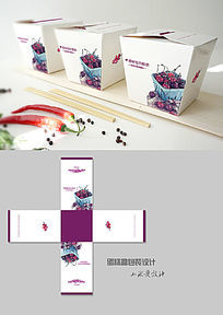 樱桃味蛋糕方形包装盒