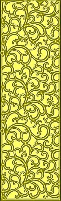 隔断雕花花纹装饰模板