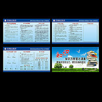 工地学习制度展板设计 CDR