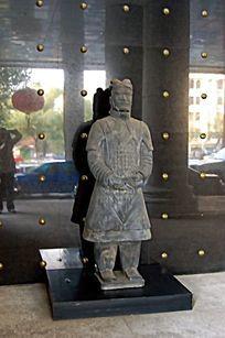 兵马俑陶人石雕小品