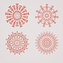 复古花饰纹样AI矢量图